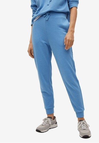 Mango blue Knit Jogger-Style Trousers 61E46AA993CB39GS_1