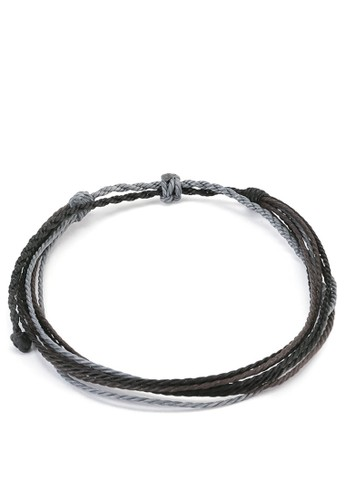 Tutu and Co black and grey and brown Thundra Bracelet 2932DAC21B2830GS_1