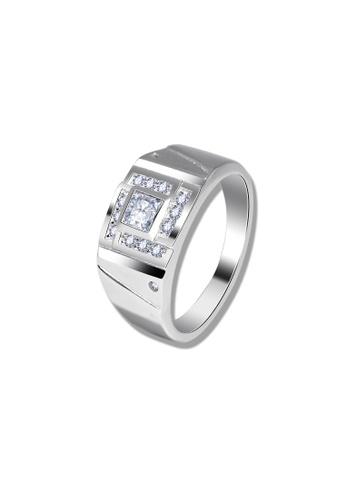 SC Tom Silver silver Men's Stone Ring-RSM096W SC872AC22ZFHPH_1