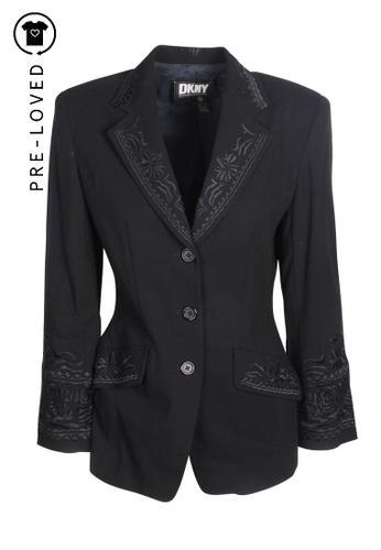 DKNY black Pre-Loved dkny Black Embellished Blazer 5FD4DAA1B5F97DGS_1