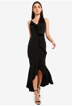705671ad19 Preen   Proper black Cascade Ruffle Maxi Dress 8A565AAD5E4E2FGS 1