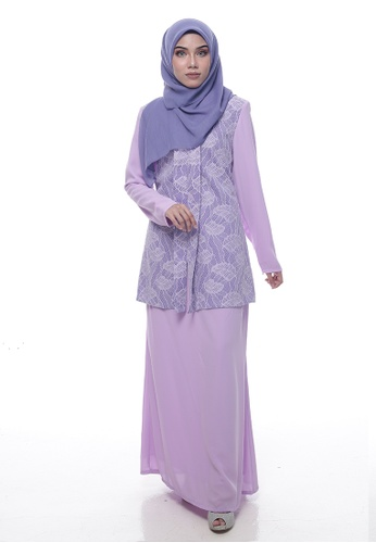 Baju Kurung Lawra from Denai Boutique in Purple