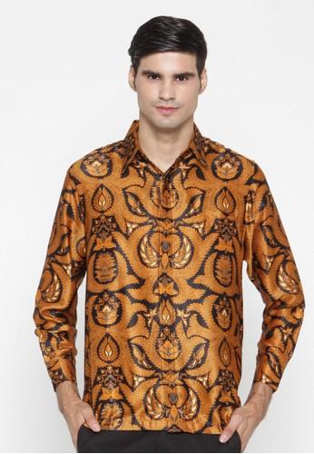 Waskito Kemeja Batik Semi Sutera - KB LE 860511 - Yellow