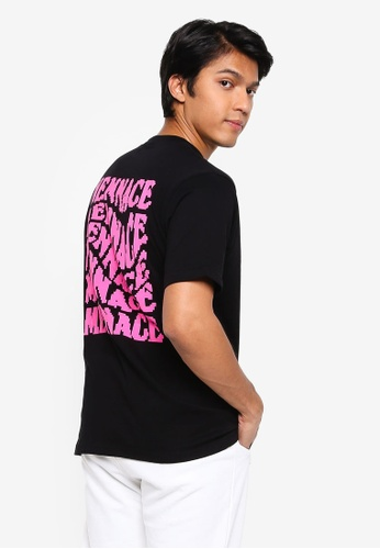 Mennace 黑色 短袖T恤 74D31AAFD1F65FGS_1