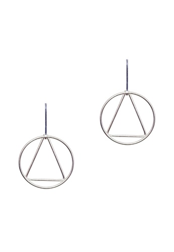 LUCCACAL silver Geometric Earrings LU294AC0SC85MY_1