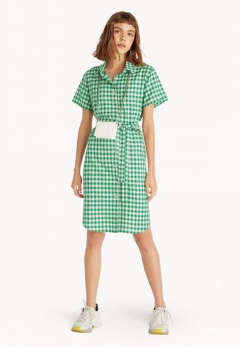 71fddd7e11d Pomelo green Mini Gingham Shirt Dress - Green 9ED35AA9F72EBAGS 1