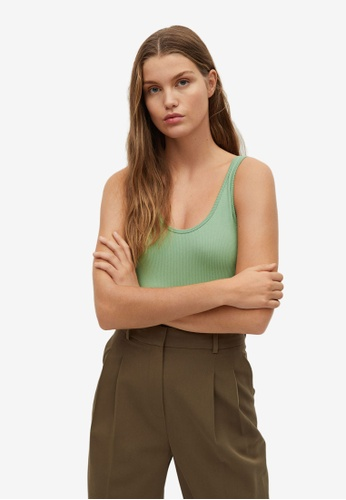 Mango green Ribbed Bodysuit E5A9CAA2257465GS_1