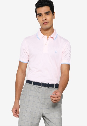Brooks Brothers pink Knit Polo Shirt 3797BAAF8A2BBFGS_1