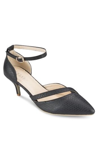 Kay 暗紋esprit 寢具側空低跟鞋, 女鞋, 鞋
