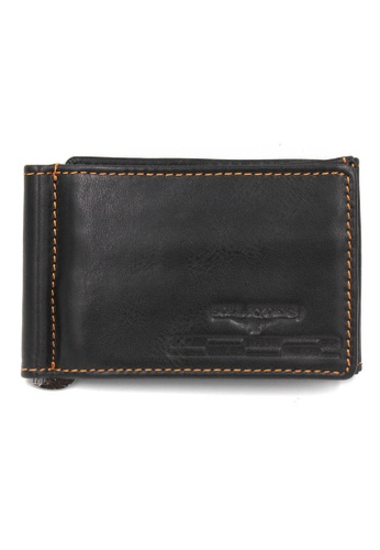 midzone black Genuine Leather Card Holder & Wallet MI949AC07LLGMY_1