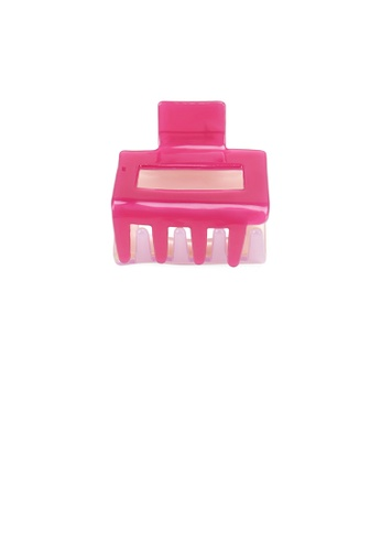 Glamorousky pink Simple and Fashion Pink Geometric Hair Claw 4AB29AC08CC31AGS_1