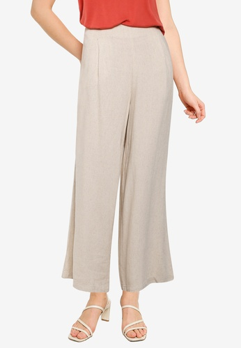 Cotton On brown Wide Leg Paradise Pants 592E4AAAF3D190GS_1