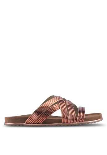 Something Borrowed brown Metallic Detail Sandals 6C6B6SH108664BGS_1