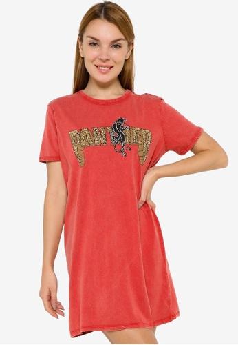 JACQUELINE DE YONG orange Elina Life Short Sleeve Print Dress 45663AAED5CD0BGS_1