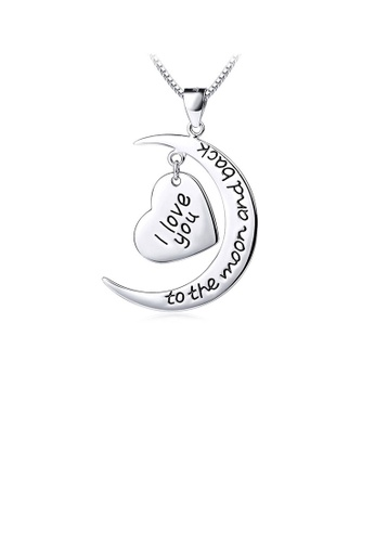 Glamorousky silver Fashion 925 Sterling Silver Heart-shaped Pendant and Necklace A035BACDD2AF72GS_1