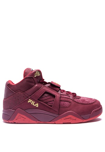 FILA red BB-CAGE MID Sport Shoes 4E441SH480BA44GS_1