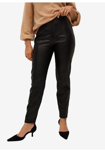 Violeta by MANGO black Plus Size Faux Leather Leggings 0671CAA91155A6GS_1