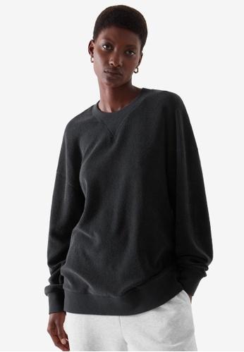 Cos black Terry Sweatshirt CC252AAFFC3C8AGS_1