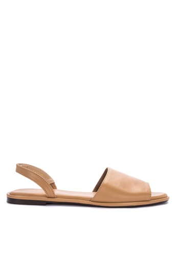 57f32c1d8d2 Shop CLN Peeptoe Slingback Flat Sandals Flats Online on ZALORA Philippines