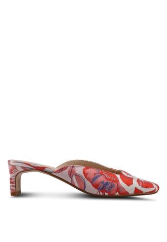 Mango 紅色 提花穆勒鞋 421CFSH901E117GS_1