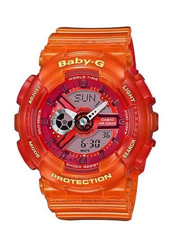 CASIO orange Casio Baby-G Transparent Orange Resin Watch 18ACDAC9DE9F53GS_1