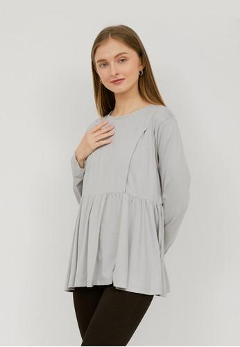 Monomom grey MONOMOM Basic Long Sleeve Top Grey 9A1A6AAAE97D94GS_1