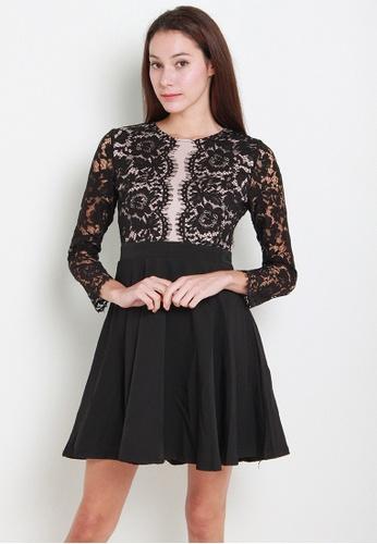 Leline Style black Astley Lace Dress LE802AA27QUESG_1