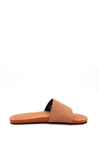 Indosole red Indosole Women's ESSNTLS Slides - Rust 71030SH78B6FC4GS_1