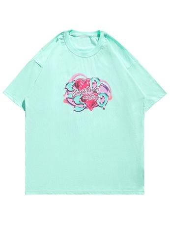 Twenty Eight Shoes Love Direct Spray Print T-shirt HH1170 D332EAAB469398GS_1