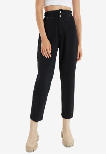 Trendyol black High Waist Mom Jeans D9138AA8E268A2GS_1