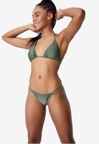 Cotton On Body green Slider Triangle Bikini Top 06948US9CD63ADGS_1