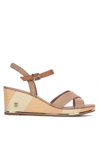 adb41695d Shop Tommy Hilfiger Printed Mid Wedge Sandals Online on ZALORA Philippines