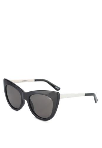 Quay Australia black STEAL A KISS Sunglasses 9A757GL20FCEA7GS_1