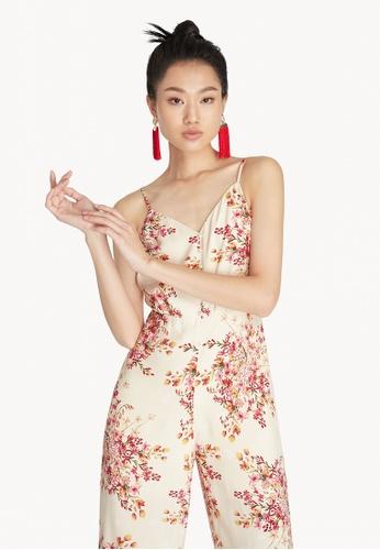Pomelo multi Cami Floral Jumpsuit - Cream F38ACAA1AFDD1CGS_1