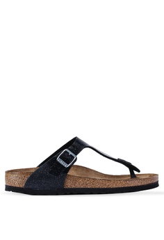 928997f21381 Birkenstock black Gizeh Magic Galaxy Soft Footbed Sandals 9CE8BSH6BD7686GS_1