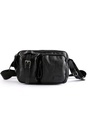 Lara black Men's Small Messenger Bag 37530AC1C82B15GS_1