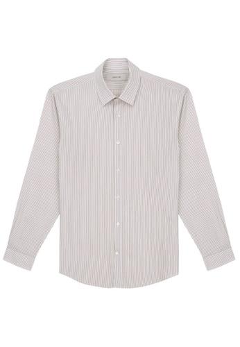 CERRUTI 1881 beige Bengal Stripe Shirt C5597AACBF4C2EGS_1