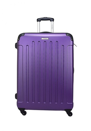 "Calvin Klein Calvin Klein Littleton  28"" 4 wheels Hard Case Luggage - Purple CA221AC02PXXSG_1"