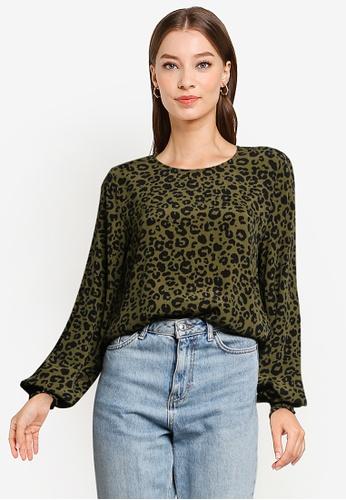 Vero Moda green Nancy Long Sleeves Top 7ECD4AA03FE93EGS_1