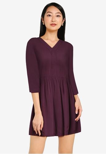 ZALORA BASICS purple Oversized Babydoll Dress 4C196AA63616BFGS_1