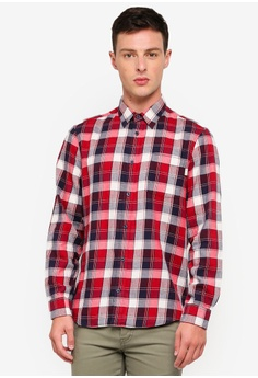 fbe0dde3fc3 Jack Wills red and navy Dundry Flannel Shirt B5052AA5924A69GS 1