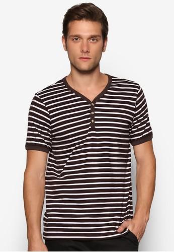 條紋亨利esprit taiwan短袖上衣, 服飾, 條紋T恤