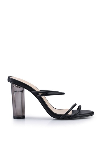 Nose black Strappy Lucite Heels B8C3CSH9B8A624GS_1