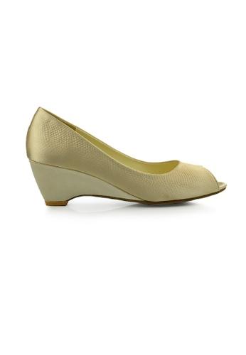 SHINE beige Peep Toe  Wedge Pumps SH554SH0FVL9SG_1