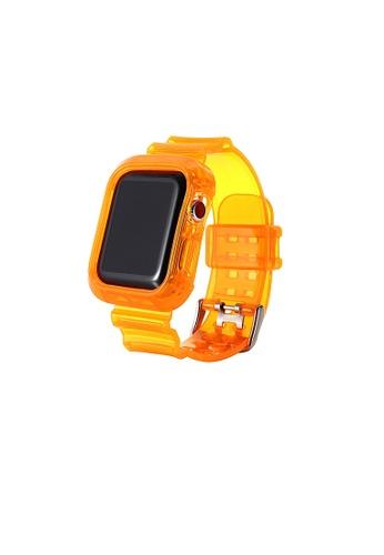 Glamorbit orange Orange Cover Protective Apple Watch Strap 235FCACB6554E7GS_1