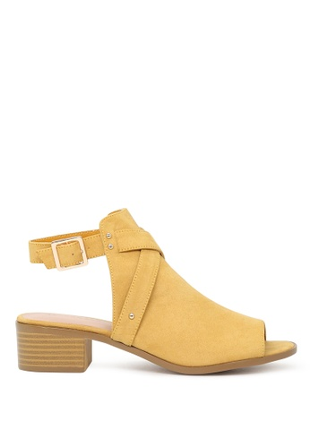 London Rag yellow London Rag Women's Yellow Color Peep Toe Ankle Cut Strap Sandals SH1575 2396DSH09DCB1BGS_1