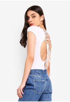 36b2cf58ab7be Free People white All About The Back Bodysuit Top 12D1CAAA7AA563GS 1