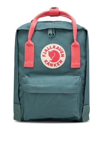 Fjallraven Kanken pink Frost Green-Peach Pink Kanken Mini Backpack FJ382AC21GPAMY_1