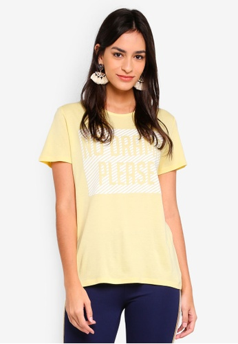Pieces yellow Printed T-Shirt 005C6AAB60DE7FGS_1