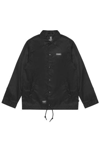 Fingercroxx black Embroidered logo coach jacket 71107AA0EF2242GS_1